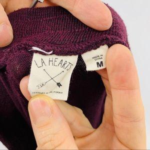 La Hearts Pants - LA Hearts Drawstring Joggers With Elastic Hem
